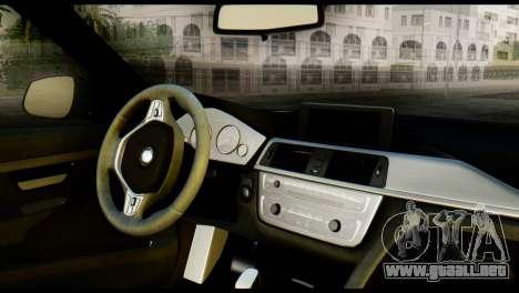 BMW 3 Touring F31 2013 1.0 para GTA San Andreas vista posterior izquierda