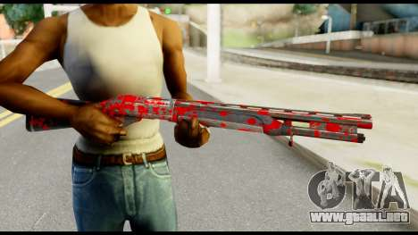 Combat Shotgun with Blood para GTA San Andreas tercera pantalla