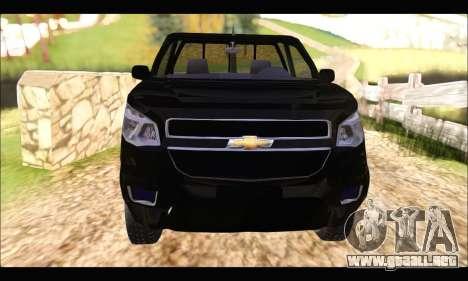 Chevrolet S10 Cabina Simple 2014 para la visión correcta GTA San Andreas