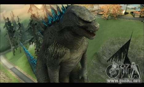Godzilla 2014 para GTA San Andreas quinta pantalla