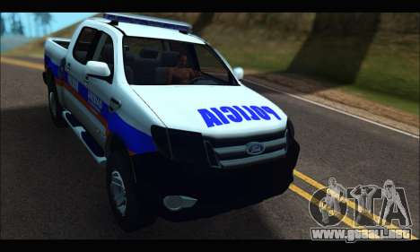 Ford Ranger P.B.A 2015 Text2 para GTA San Andreas
