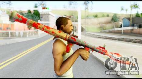 Rocket Launcher with Blood para GTA San Andreas tercera pantalla