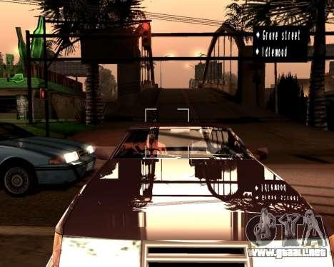 Artificial ENB para PC de bajos para GTA San Andreas sucesivamente de pantalla