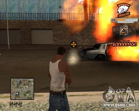 C-HUD Virtus Pro para GTA San Andreas tercera pantalla