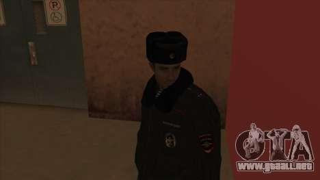 La policía rusa de invierno de la forma para GTA San Andreas quinta pantalla