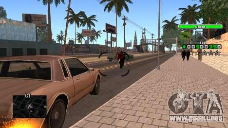 Light Green C-HUD para GTA San Andreas sucesivamente de pantalla