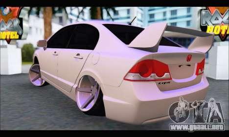 Honda Civic Korea Style para GTA San Andreas vista posterior izquierda