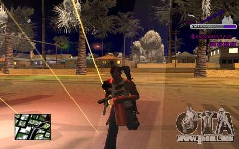 С-HUD Ghetto para GTA San Andreas tercera pantalla