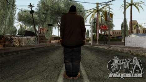 GTA 4 Skin 70 para GTA San Andreas segunda pantalla