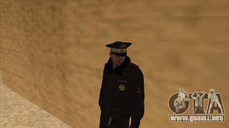 La policía rusa de invierno de la forma para GTA San Andreas décimo de pantalla
