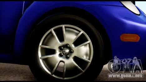 Volkswagen New Beetle para la visión correcta GTA San Andreas