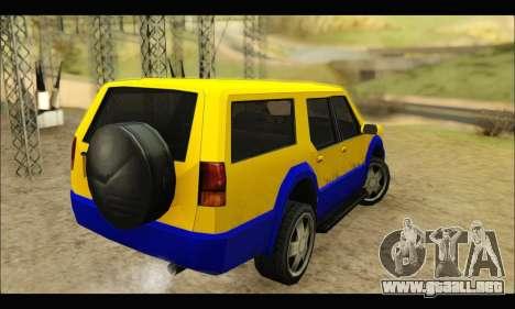 New Landstalker para GTA San Andreas vista posterior izquierda