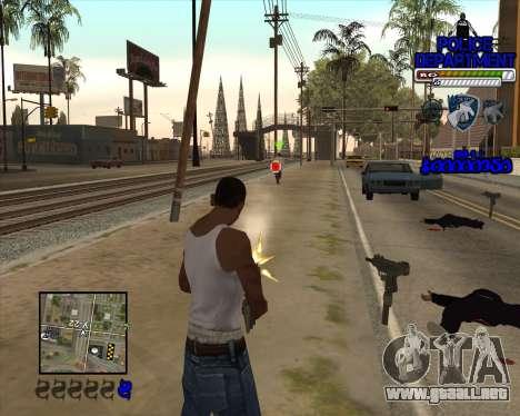 PD HUD para GTA San Andreas tercera pantalla