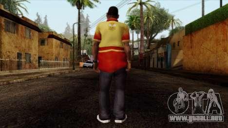 GTA 4 Skin 90 para GTA San Andreas segunda pantalla