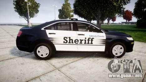Ford Taurus 2014 Sheriff [ELS] para GTA 4 left