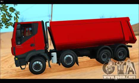 Iveco Trakker 2014 Tipper (IVF & ADD) para GTA San Andreas left