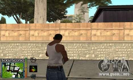 С-HUD RastaMan para GTA San Andreas tercera pantalla