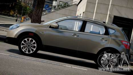Nissan Qashqai 2011 para GTA 4 vista hacia atrás