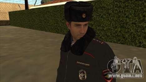 La policía rusa de invierno de la forma para GTA San Andreas séptima pantalla
