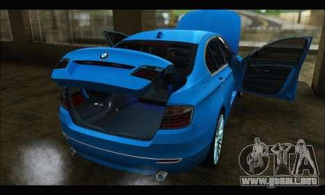 BMW 5 series F10 2014 para GTA San Andreas vista posterior izquierda