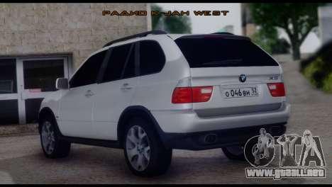 BMW X5 E53 para GTA San Andreas left