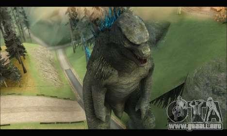 Godzilla 2014 para GTA San Andreas tercera pantalla