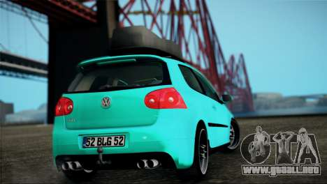 Volkswagen Golf Mk5 para GTA San Andreas left