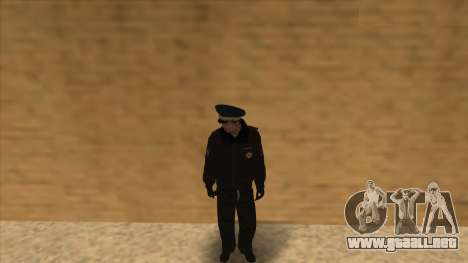 La policía rusa de invierno de la forma para GTA San Andreas undécima de pantalla