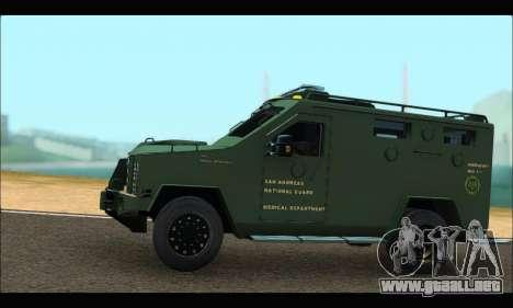 Lenco Bearcat SANG MedEvac 2009 para GTA San Andreas left