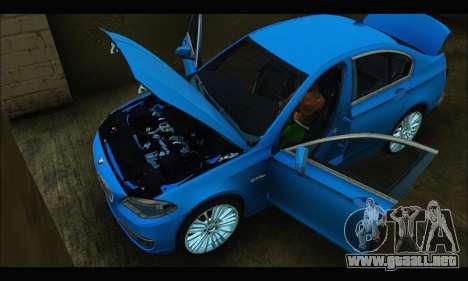 BMW 5 series F10 2014 para la visión correcta GTA San Andreas