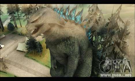 Godzilla 2014 para GTA San Andreas segunda pantalla