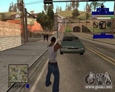 PD HUD para GTA San Andreas segunda pantalla