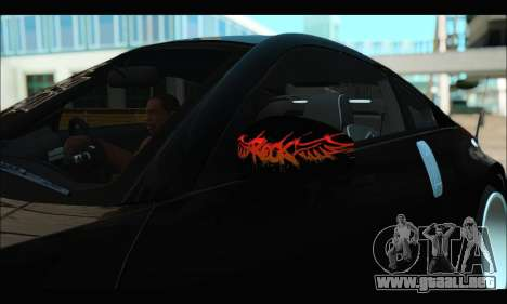 Nissan 350Z Rock para GTA San Andreas vista hacia atrás