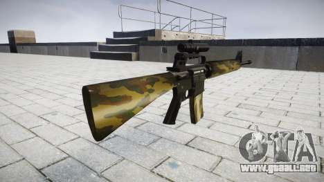 El rifle M16A2 [óptica] flora para GTA 4 segundos de pantalla