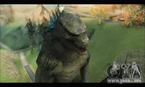 Godzilla 2014 para GTA San Andreas sucesivamente de pantalla
