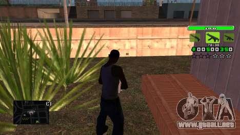 Light Green C-HUD para GTA San Andreas segunda pantalla
