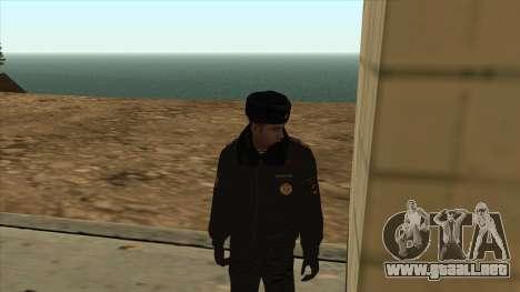 La policía rusa de invierno de la forma para GTA San Andreas segunda pantalla