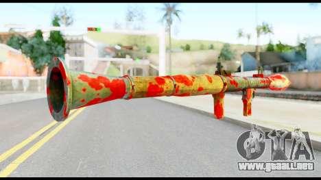 Rocket Launcher with Blood para GTA San Andreas segunda pantalla