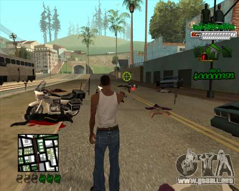 C-HUD for Groove para GTA San Andreas tercera pantalla
