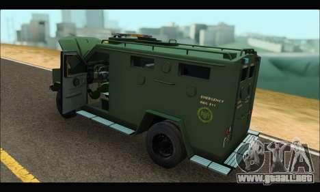 Lenco Bearcat SANG MedEvac 2009 para la visión correcta GTA San Andreas