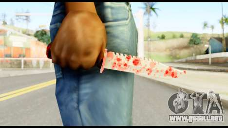Knife with Blood para GTA San Andreas tercera pantalla