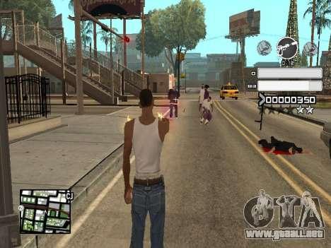 C-HUD Gray para GTA San Andreas sucesivamente de pantalla