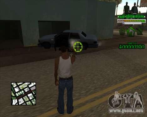 C-HUD for Groove para GTA San Andreas segunda pantalla