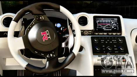 Nissan GT-R para GTA San Andreas vista posterior izquierda