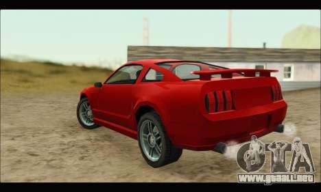 New Buffalo para GTA San Andreas vista posterior izquierda