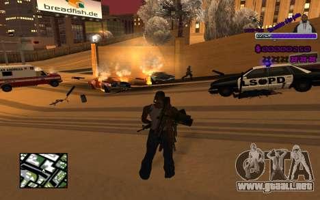С-HUD Ghetto para GTA San Andreas segunda pantalla