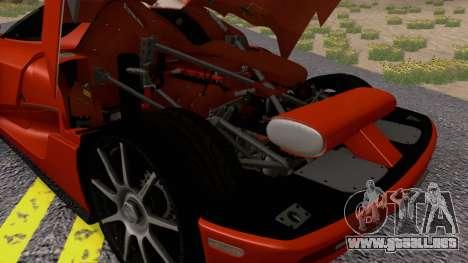 Koenigsegg CCX 2006 Road Version para GTA San Andreas vista hacia atrás