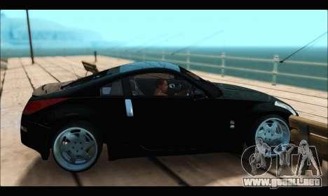 Nissan 350Z Rock para GTA San Andreas vista posterior izquierda