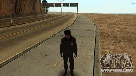 La policía rusa de invierno de la forma para GTA San Andreas sucesivamente de pantalla