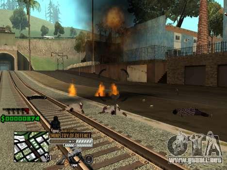 C-HUD Air Force para GTA San Andreas segunda pantalla